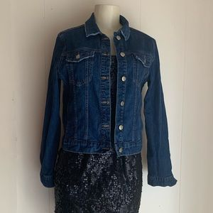 🔵2 for $10🔵Denim Jacket By Basic Denim Sz: Large